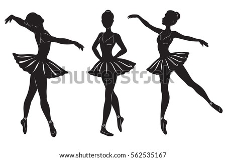 the silhouettes of three