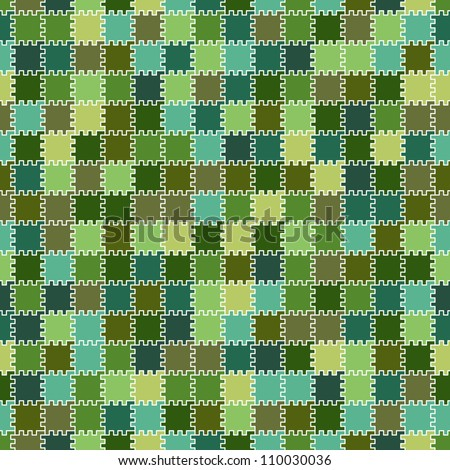 The simple geometric vector pattern - color elements with teeth