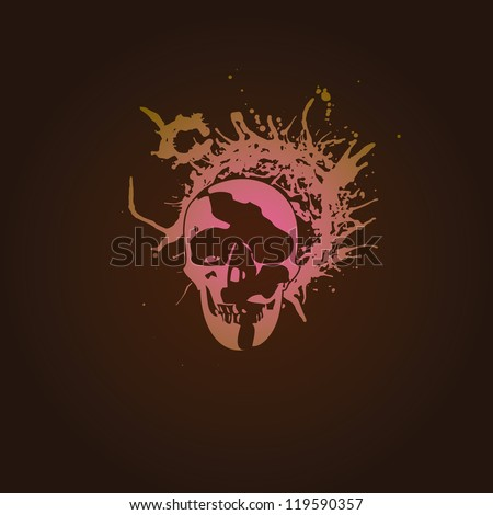 the skull   a stylish abstract