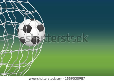 the soccer ball enters the goal