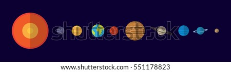 the solar system illustration