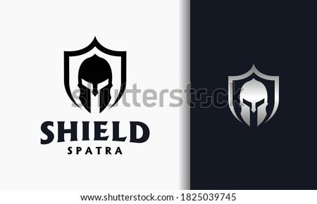 the spartan shield strong logo Zdjęcia stock ©