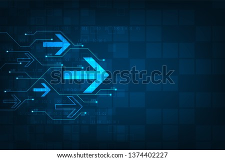 The speed of the internet system with lots of information. Foto stock ©