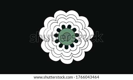 The Srebrenica Flower - The Sign of Remembrance,  The 11 petals on this flower represent the day the genocide began, July 11th. The white petals represent innocence, while the green represents hope.