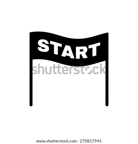 The start icon. Start symbol. Flat Vector illustration