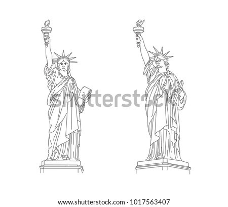 the statue of liberty outline