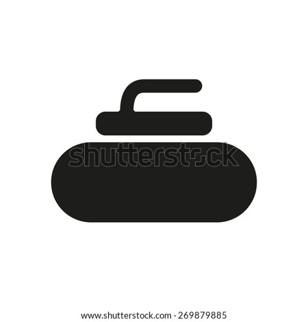 The stone for curling icon. Sport symbol. Flat Vector illustration