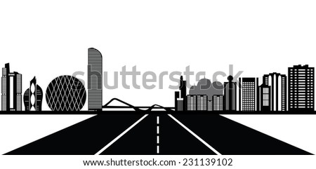 the street to abu dhabi skyline