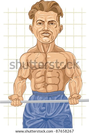 The strong man with weight