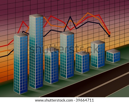 The stylized business histogram of financial crisis