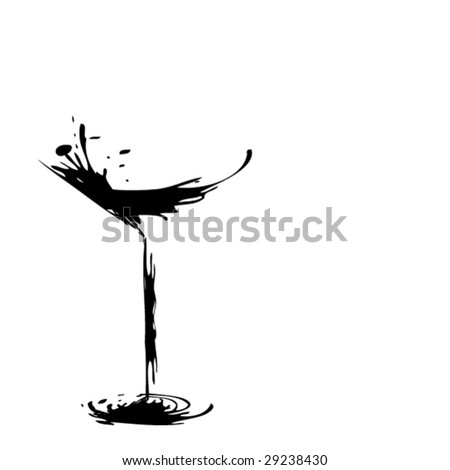 The stylized glass for martini (vector)