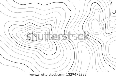 The stylized height of the topographic contour in lines and contours. The concept of a conditional geography scheme and the terrain path. Vector illustration. Foto stock ©