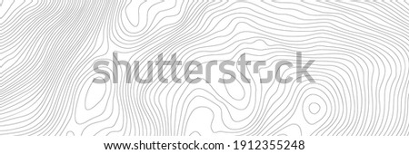 The stylized height of the topographic contour in lines and contours. The concept of a conditional geography scheme and the terrain path. Ultra wide size. Vector illustration. Photo stock ©