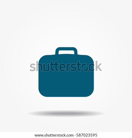 The suitcase vector icon