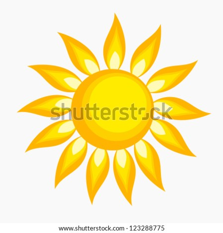 The sun - vector illustration