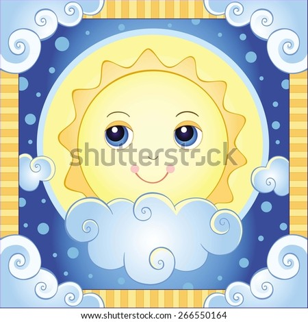 the sun vector illustration of