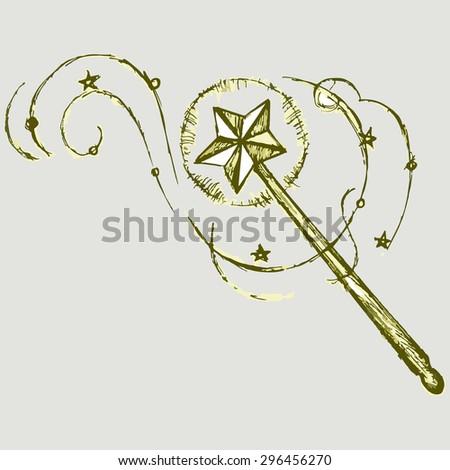 the symbol of a magic wand