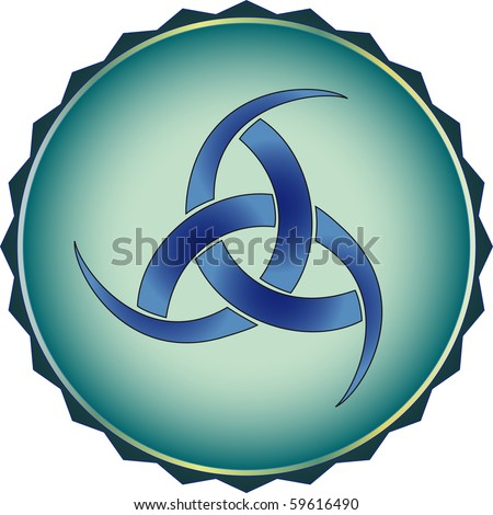 stock vector The symbol of the Vikings Rogue god Odin