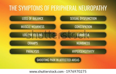 the Symptoms of Peripheral neuropathy. Vector illustration for medical journal or brochure. Stock photo ©