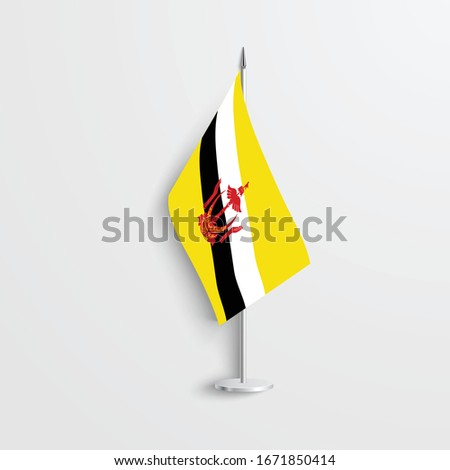 the table flag of brunei is a