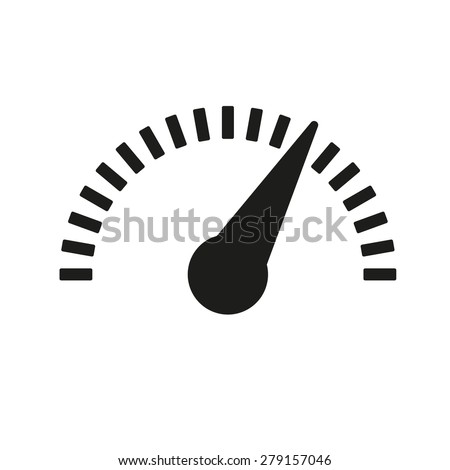 the tachometer  speedometer and