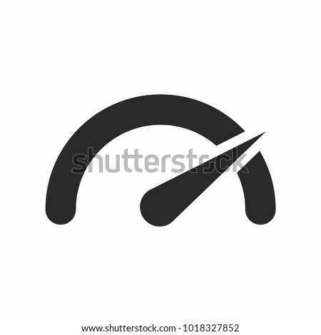 The tachometer, speedometer and indicator icon. Speed sign logo. Vector