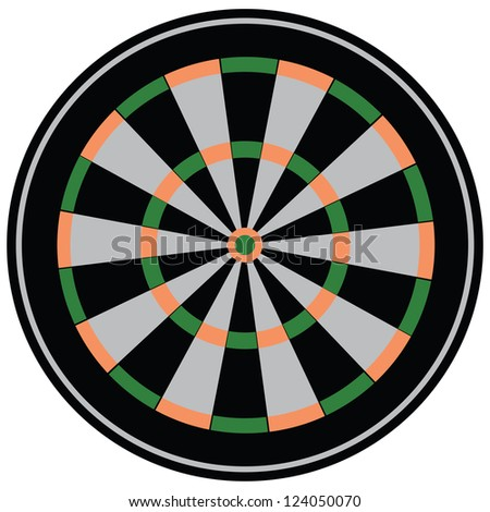 The target for the game of darts. Club game. Vector illustration.