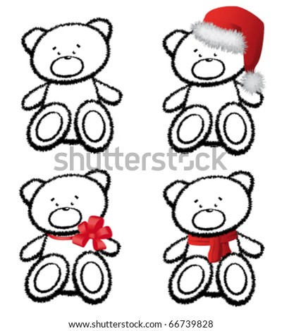 The teddy bear isolated on white