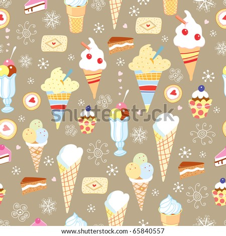 The texture of ice cream and cake