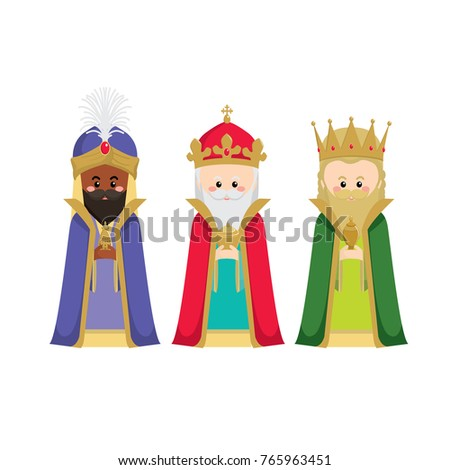 the three wise men bringing