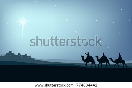 the three wise men on camels