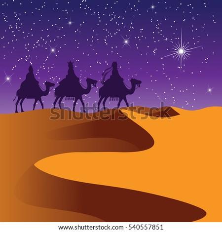 the three wise men riding