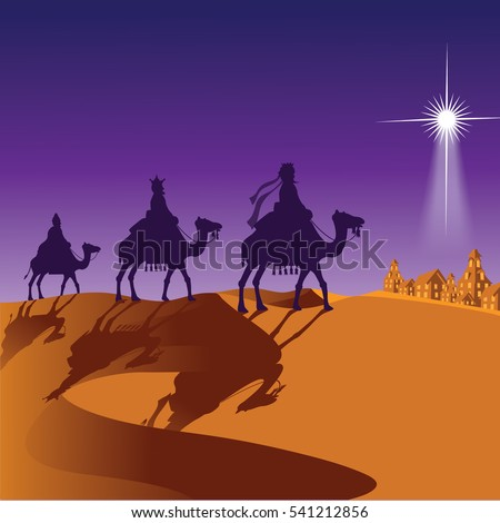 the three wise men riding