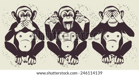 the three wise monkeys  also