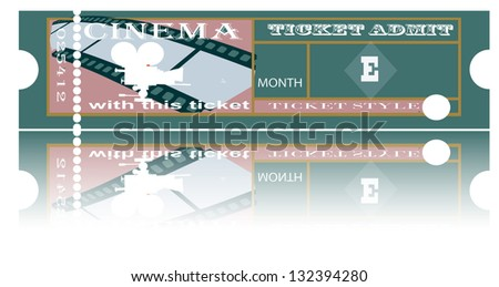 The ticket for festival of cinema representation. The vector image of a template for tickets. EPS10