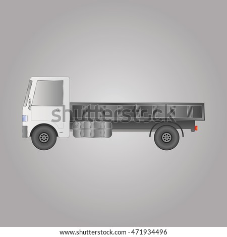 the truck with the body vector