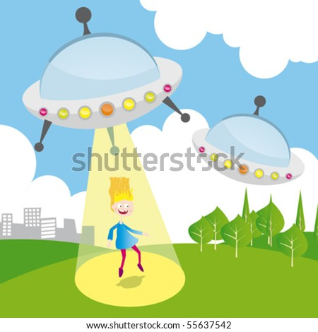 The UFO abduct a girl