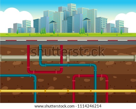 The Underground Water Pipe System  illustration