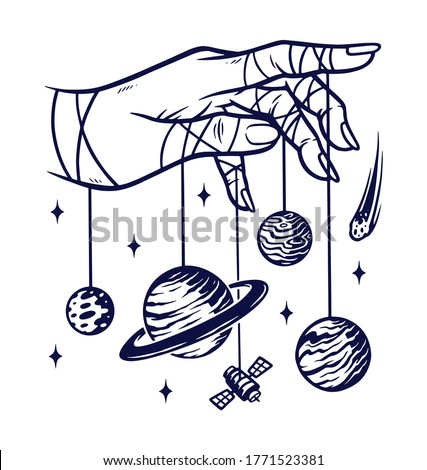 the universe in my hand vector