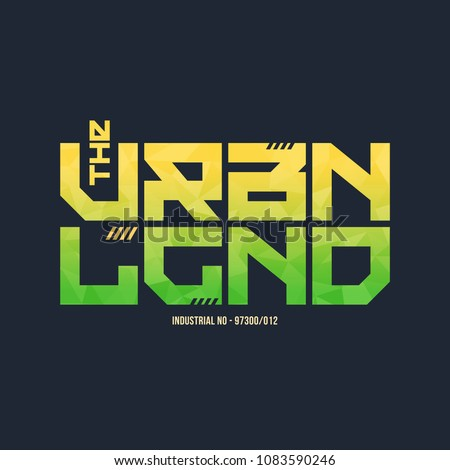 The urban legend trendy fashionable vector t-shirt and apparel design, typography, print, poster. Global swatches.