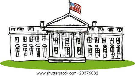 stock vector : The US White House