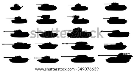 the ussr tanks silhouettes set