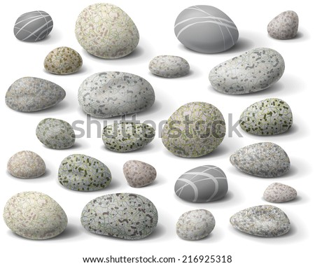the variety  of rocks isolated