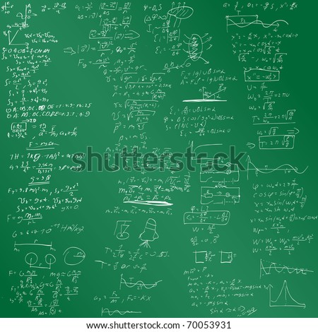 The vector background with physical formulas. EPS 8. Green