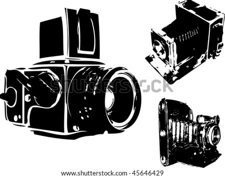 Grunge Camera Vector : Retro cameras set download free vector art stock graphics images