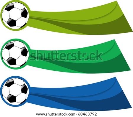 the vector color soccer banner set