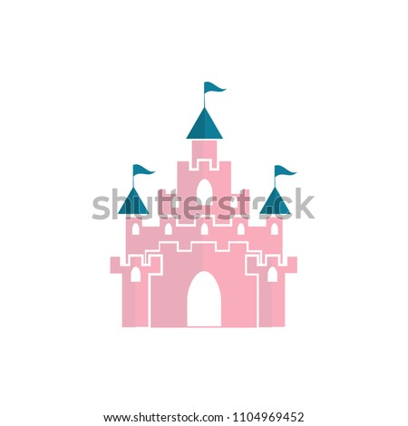The vector illustration of pink princess magic castle Stock photo ©