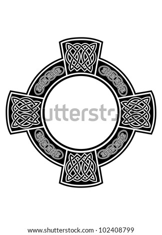 the vector image celtic cross