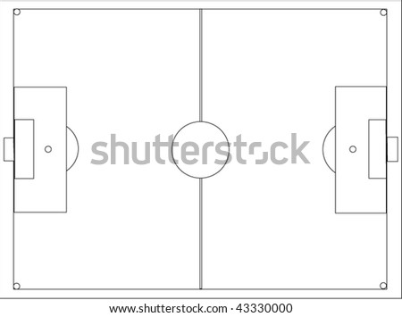 the vector image of a football