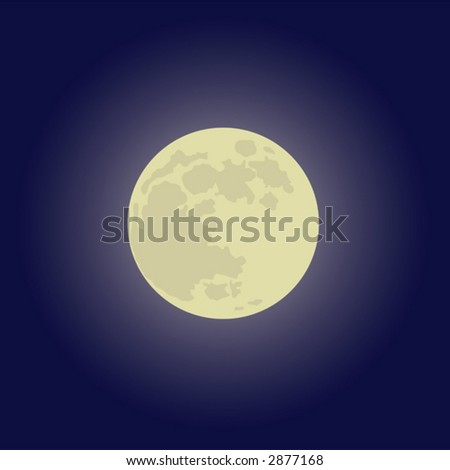 The vector image of a full moon